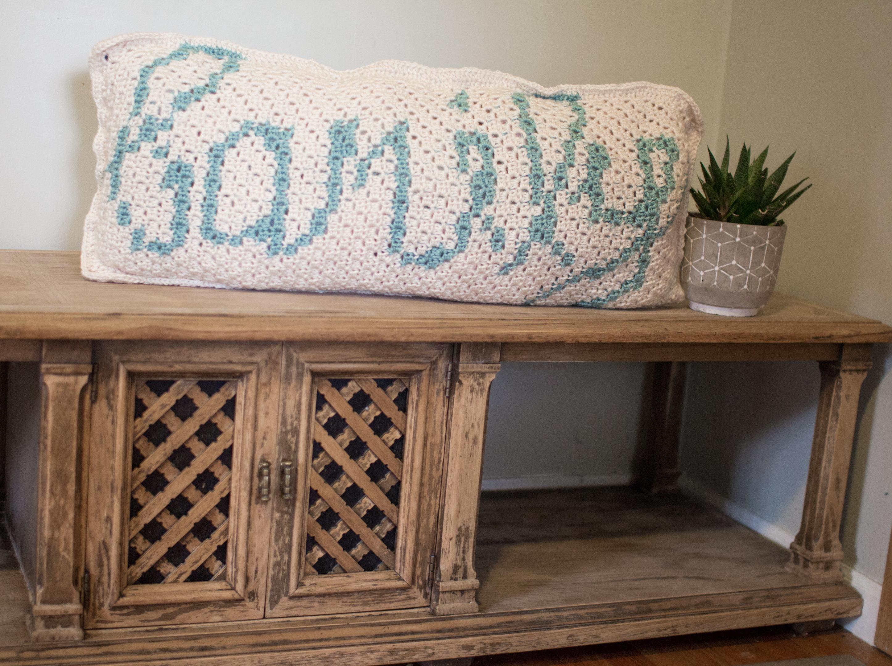 The Family Mini C2C Throw Pillow (Summer Blog Hop) | Created